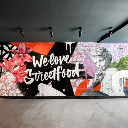 mural graffiti pintado a mano pared dase