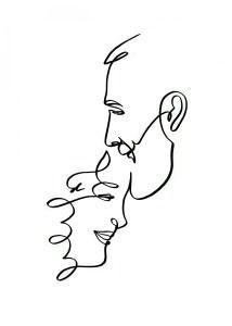 Tatuaje de línea fina hombre y mujer