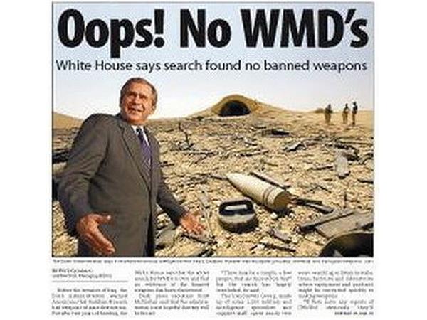 Afbeeldingsresultaat voor Iraq WMD