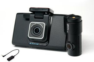 BlackVue DR750LW front and rear car camera system, with external GPS