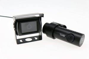 Front and rear camera of the DR650GW-2CH Truck dual channel dash cam