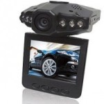 A closeup of the DVR-207 dash cam