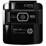 A closeup of the HP F210 dash cam from up front