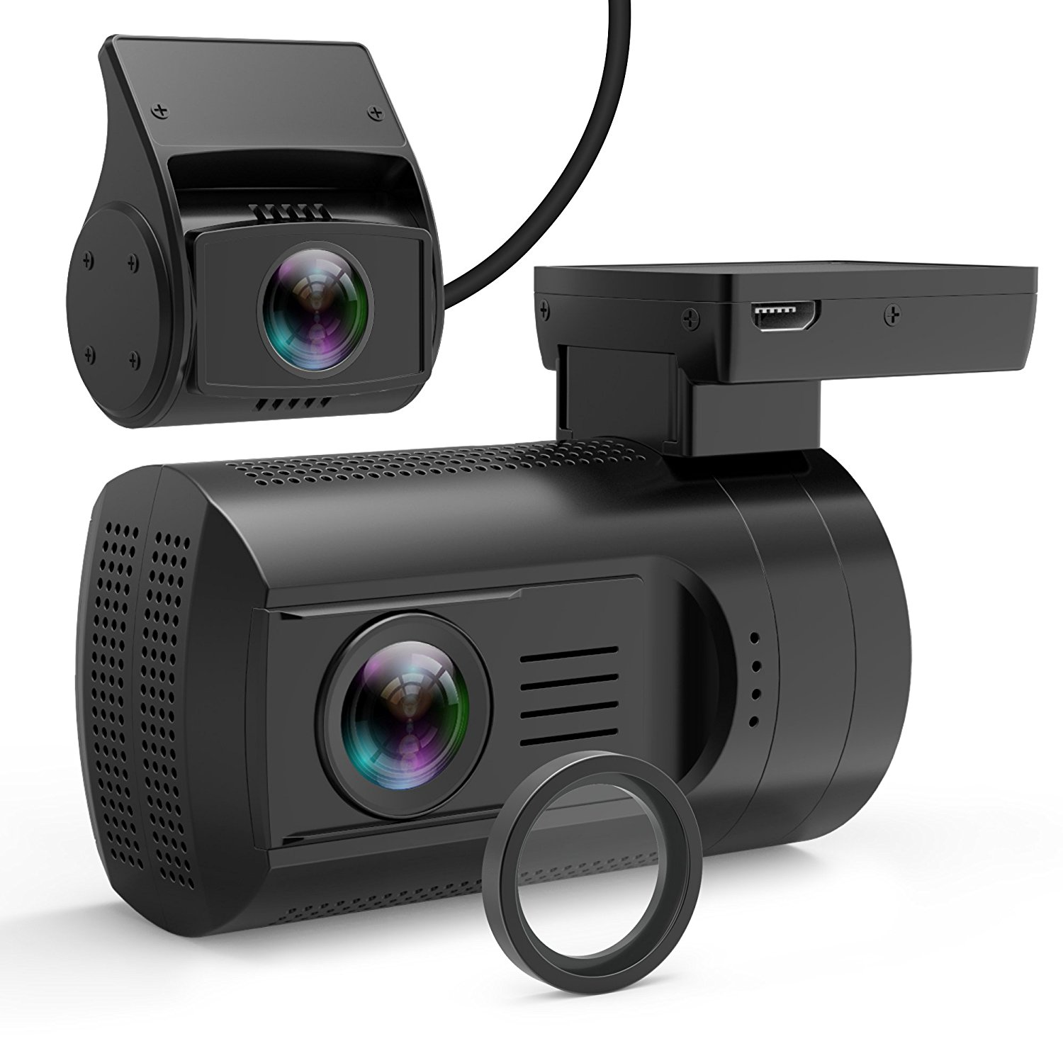 Mini 0906 cheap dual lens dash cam