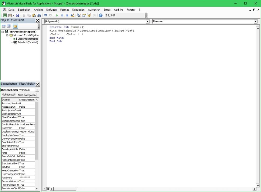 Excel Zellwert Erhohen Und Vermindern Mit Vba Skript