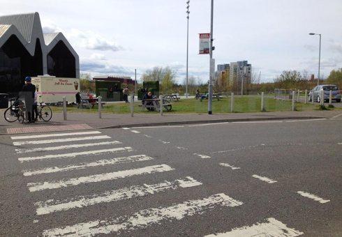 Riverside zebra crossing