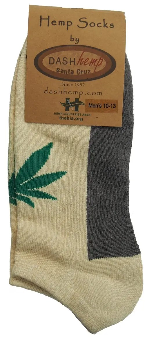 Natural no show hemp sock