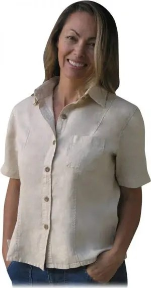 Women's Hemp camp shirt