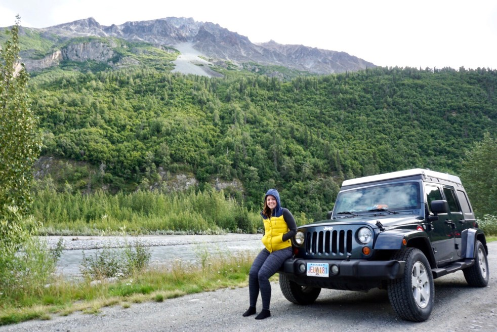 Jeep on Glenn Alan Highway