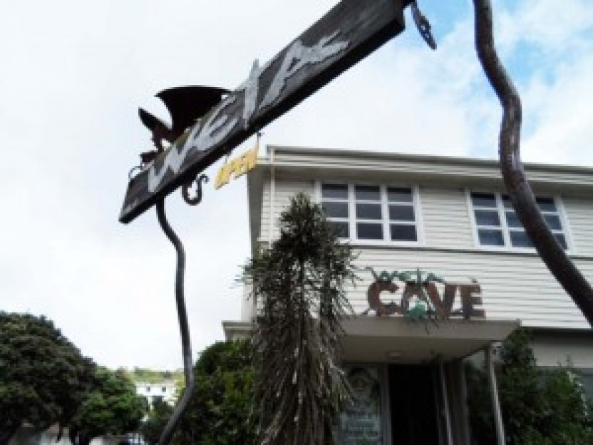 Entrance to Weta Cave Shop, Miramar, Wellington, NZ