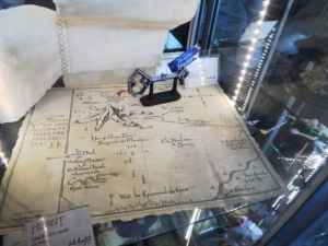 Map with Key to Erebor