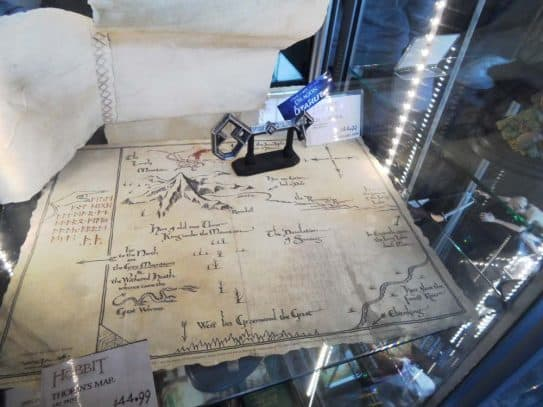 Weta Cave Visit Map with Key to Erebor