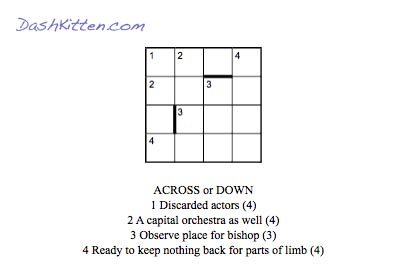 Crashes and Crutches and Crosswords