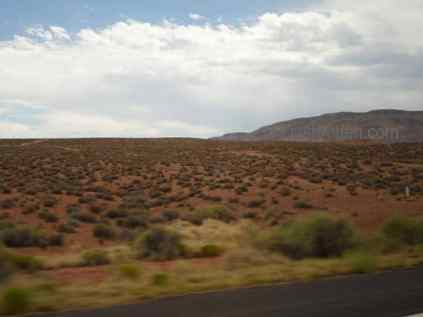 Grand Canyon terrain as we approach the area