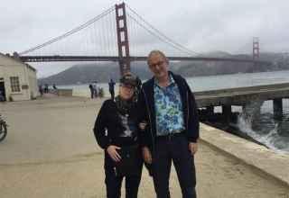 Visitors at the Golden Gate Bridge