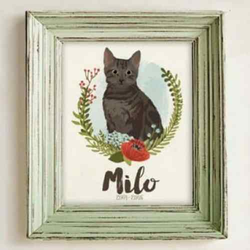 Pet Memorial Ideas for Cats Artist graphic