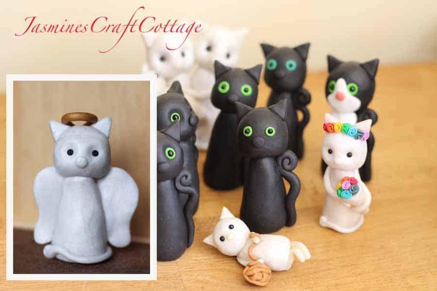 Polymer Clay Cat Memorial Etsy