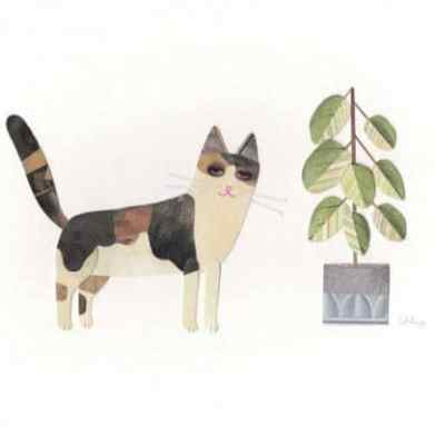Cut out Cats Lovely and naive