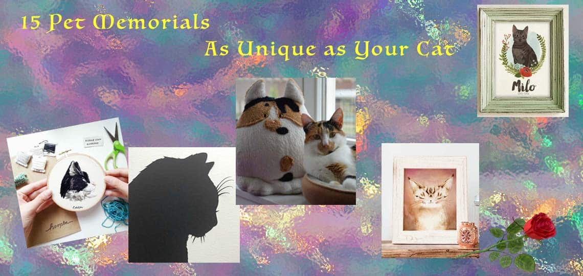 Picture of a selection of the Unique Pet Memorials