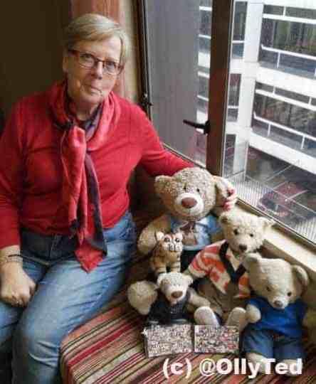 TweetUp in Wellington. Portrait by a window with teddy bears Taken with a smartphone.