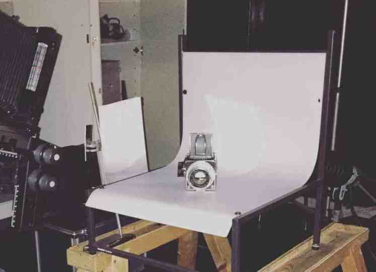 Product photography setup for taking pictures inside at home.