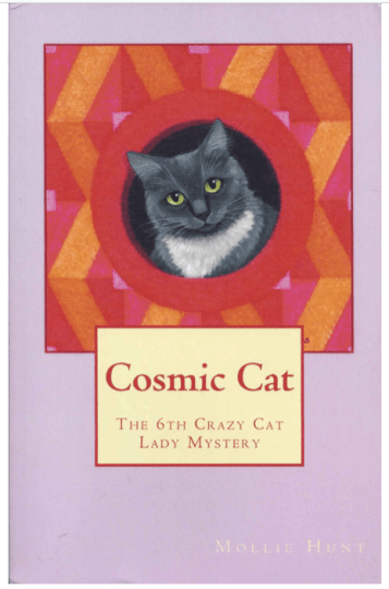 Cosy Mystries Book Cover photograph of Mollie Hunt Cat Lady novel