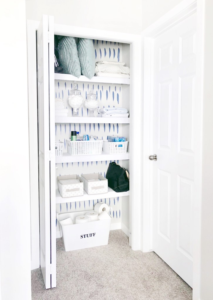 An Easy Linen Closet Makeover