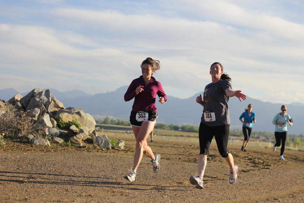 Happy Runners at the Dash and Dine 5k in Boulder