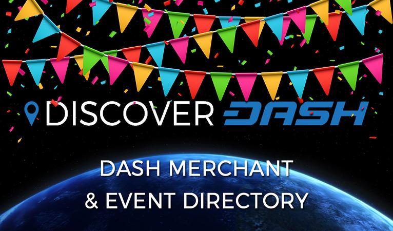 Mais de 500 Comerciantes que Aceitam Dashs Listados no DiscoverDash