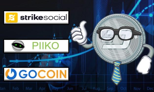 GoCoin Onlinezahlungen, Strike Social und Piiko integrieren Dash