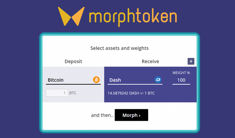Instant Exchange MorphToken integriert Dash