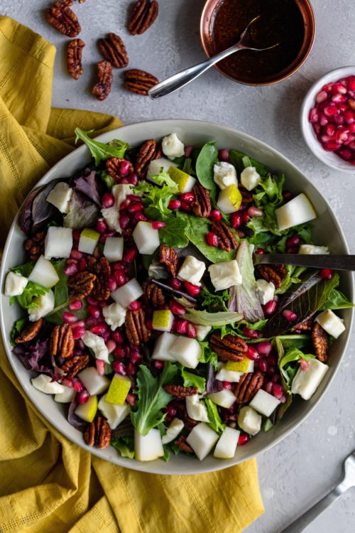 Thanksgiving Salad With Maple Vinaigrette