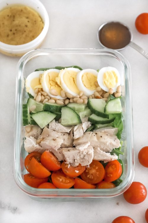 cobb salad meal prep
