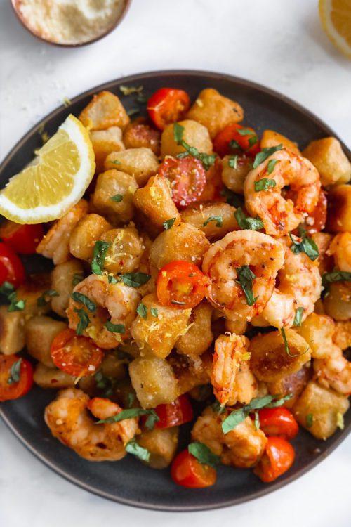 shrimp scampi cauliflower gnocchi
