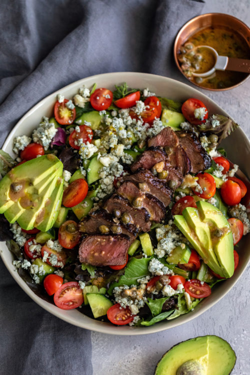Flank Steak Salad - Dash Of Mandi