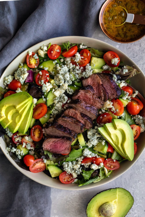 Flank Salad With Caper Mustard Dressing