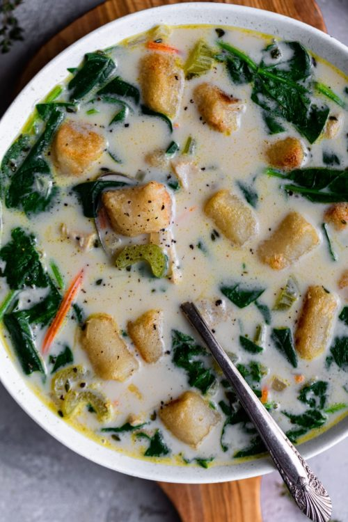 Chicken & Cauliflower Gnocchi Soup