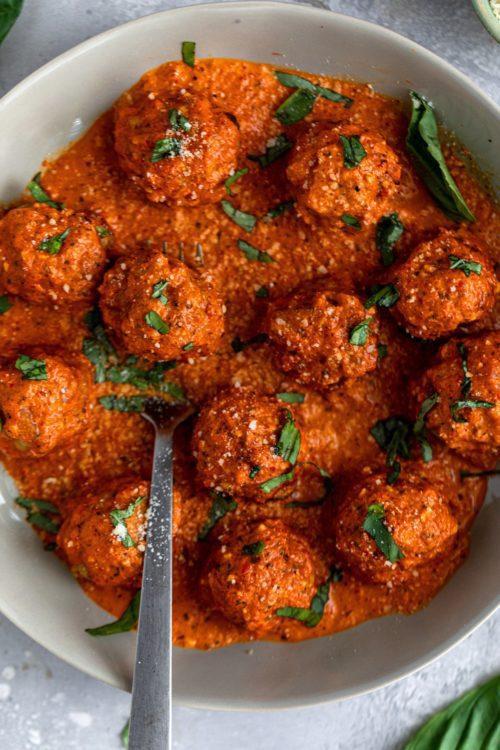 Air Fried Chicken Meatballs