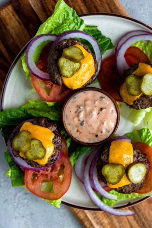 Air Fryer Burger Sliders - Dash Of Mandi