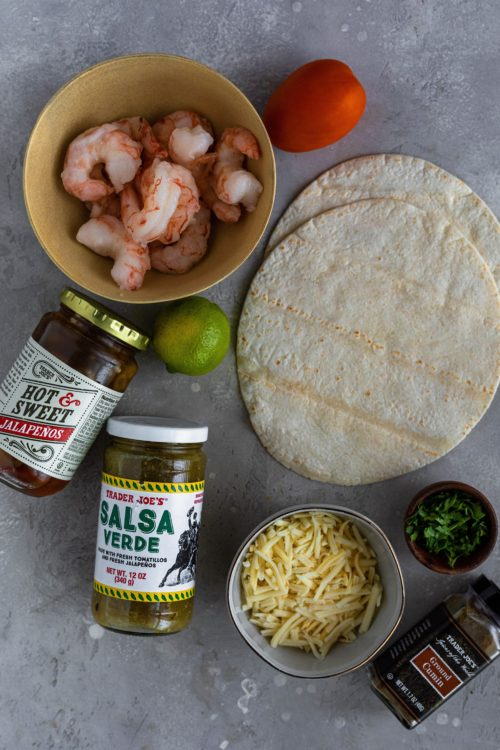 Shrimp Quesadilla Ingredients