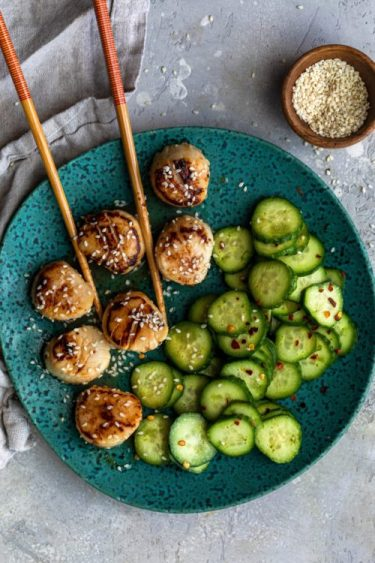 Miso Scallops And Cucumber Salad