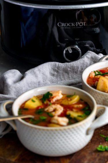 Crock-Pot Seafood Stew - Dash Of Mandi