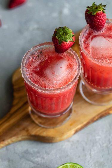 Healthy Strawberry Margarita