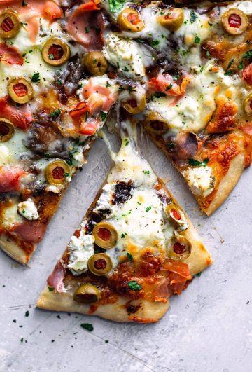 Charcuterie Board Pizza - Dash of Mandi