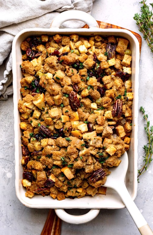 Dressed Up Trader Joe's Cornbread Stuffing - Dash of Mandi