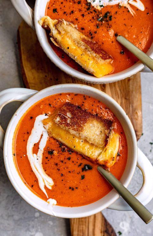 Creamy Harissa Tomato Soup