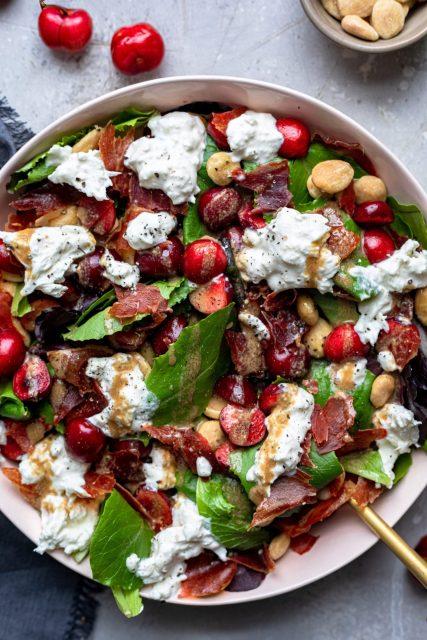 prosciutto cherry & burrata salad