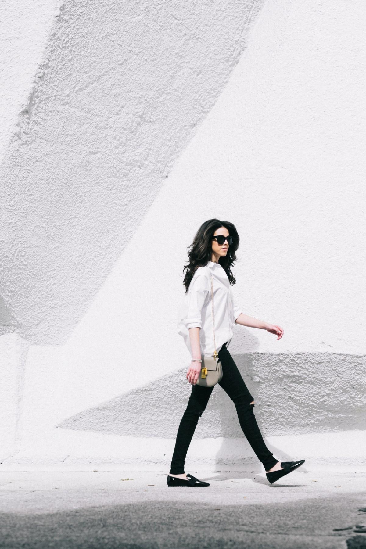 Miami Fashion Blogger - White button-down - Street Style