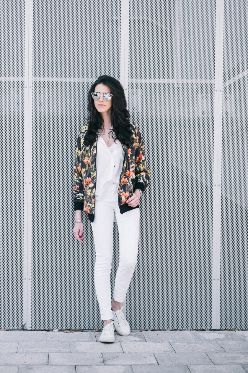 Floral bomber jacket - Somedays Lovin - Miami Fashion Blogger
