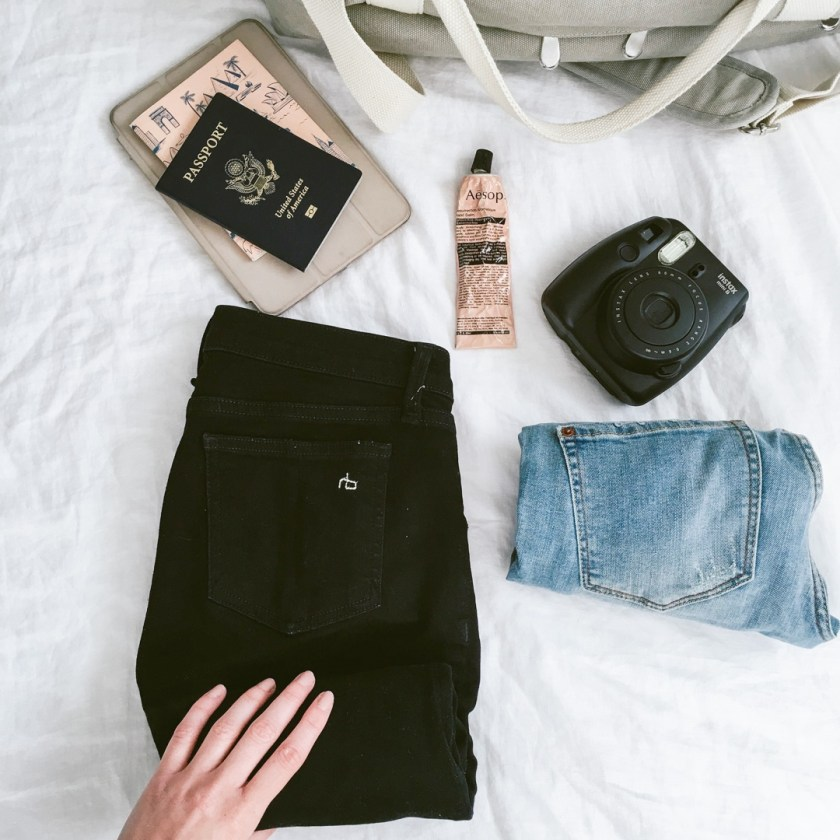 Packing tips from Dash Of Panache featuring a Lo and Sons Catalina Weekender Deluxe, Madewell, and Rag and Bone
